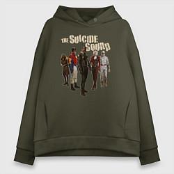 Толстовка оверсайз женская The Suicide Squad цвета хаки — фото 1