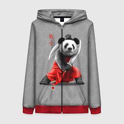 Толстовка на молнии женская Master Panda цвета 3D-красный — фото 1