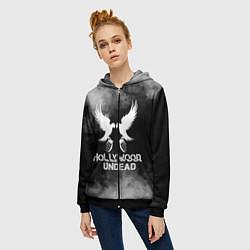Толстовка на молнии женская Hollywood Undead цвета 3D-черный — фото 2