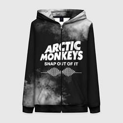 Толстовка на молнии женская Arctic Monkeys цвета 3D-черный — фото 1