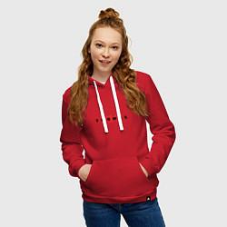 Толстовка-худи хлопковая женская Thomas Mraz цвета красный — фото 2