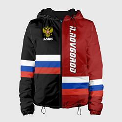 Куртка с капюшоном женская N Novgorod, Russia цвета 3D-черный — фото 1