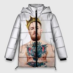 Женская зимняя 3D-куртка с капюшоном с принтом Макгрегор король, цвет: 3D-черный, артикул: 10102375706071 — фото 1