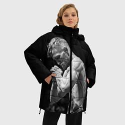 Женская зимняя 3D-куртка с капюшоном с принтом Conor McGregor: Mono, цвет: 3D-черный, артикул: 10102376606071 — фото 2