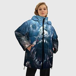 Женская зимняя 3D-куртка с капюшоном с принтом Голодные пираньи, цвет: 3D-черный, артикул: 10111584206071 — фото 2