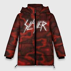 Женская зимняя 3D-куртка с капюшоном с принтом Slayer Texture, цвет: 3D-черный, артикул: 10112040806071 — фото 1