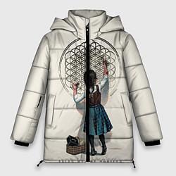 Женская зимняя 3D-куртка с капюшоном с принтом Bring Me The Horizon, цвет: 3D-черный, артикул: 10112871206071 — фото 1