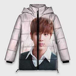 Женская зимняя 3D-куртка с капюшоном с принтом Kim SeokJin, цвет: 3D-черный, артикул: 10114633706071 — фото 1