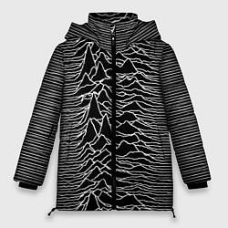 Женская зимняя 3D-куртка с капюшоном с принтом Joy Division: Unknown Pleasures, цвет: 3D-черный, артикул: 10115691506071 — фото 1