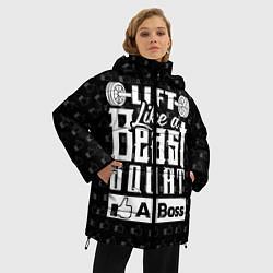 Куртка зимняя женская Lift Like A Beast Squat цвета 3D-черный — фото 2