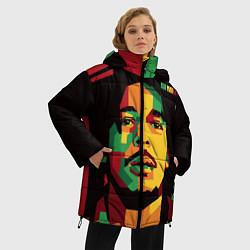 Куртка зимняя женская Боб Марли цвета 3D-черный — фото 2