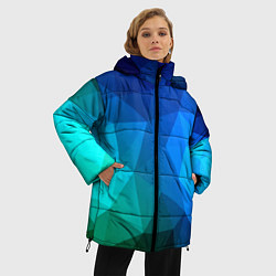Куртка зимняя женская Fight Polygon цвета 3D-черный — фото 2