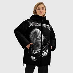 Женская зимняя 3D-куртка с капюшоном с принтом Dave Mustaine, цвет: 3D-черный, артикул: 10121348006071 — фото 2