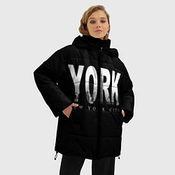 Куртка зимняя женская New York City цвета 3D-черный — фото 2