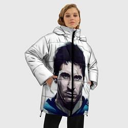 Женская зимняя 3D-куртка с капюшоном с принтом Лионель Месси, цвет: 3D-черный, артикул: 10125353606071 — фото 2
