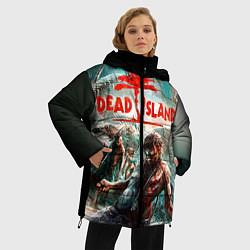 Женская зимняя 3D-куртка с капюшоном с принтом Dead Island, цвет: 3D-черный, артикул: 10129111106071 — фото 2