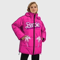Куртка зимняя женская Barbie пальмы цвета 3D-черный — фото 2
