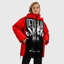 Женская зимняя 3D-куртка с капюшоном с принтом Dethklok: Knitting factory, цвет: 3D-черный, артикул: 10134389506071 — фото 2