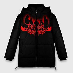 Женская зимняя 3D-куртка с капюшоном с принтом Dethklok, цвет: 3D-черный, артикул: 10134391306071 — фото 1