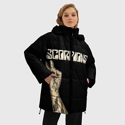 Женская зимняя 3D-куртка с капюшоном с принтом Scorpions Rock, цвет: 3D-черный, артикул: 10134452906071 — фото 2