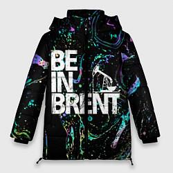Женская зимняя 3D-куртка с капюшоном с принтом Be in brent, цвет: 3D-черный, артикул: 10134592706071 — фото 1