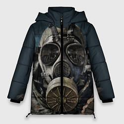 Женская зимняя 3D-куртка с капюшоном с принтом STALKER: Mask, цвет: 3D-черный, артикул: 10135205106071 — фото 1