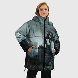 Женская зимняя 3D-куртка с капюшоном с принтом STALKER: Pripyat, цвет: 3D-черный, артикул: 10135205906071 — фото 2