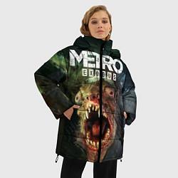 Женская зимняя 3D-куртка с капюшоном с принтом Metro Exodus, цвет: 3D-черный, артикул: 10135429506071 — фото 2