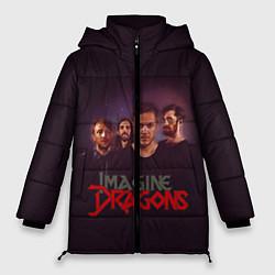 Женская зимняя 3D-куртка с капюшоном с принтом Группа Imagine Dragons, цвет: 3D-черный, артикул: 10138284506071 — фото 1