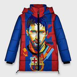 Женская зимняя 3D-куртка с капюшоном с принтом Lionel Messi, цвет: 3D-черный, артикул: 10141373106071 — фото 1