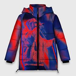 Женская зимняя 3D-куртка с капюшоном с принтом T-Fest: Neon Style, цвет: 3D-черный, артикул: 10147367706071 — фото 1