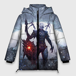 Женская зимняя 3D-куртка с капюшоном с принтом Dark Knight, цвет: 3D-черный, артикул: 10147779106071 — фото 1