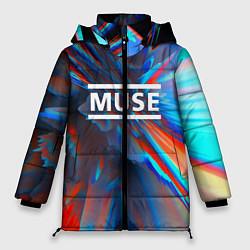 Куртка зимняя женская Muse: Colour Abstract - фото 1