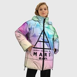 Женская зимняя 3D-куртка с капюшоном с принтом 30 Seconds to Mars, цвет: 3D-черный, артикул: 10149845306071 — фото 2