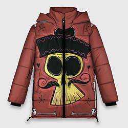 Женская зимняя 3D-куртка с капюшоном с принтом Dia de los Muertos, цвет: 3D-черный, артикул: 10152402306071 — фото 1