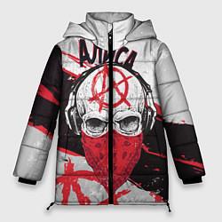 Куртка зимняя женская АлисА: Анархия цвета 3D-черный — фото 1