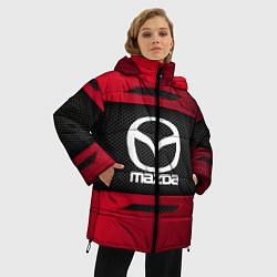 Женская зимняя 3D-куртка с капюшоном с принтом Mazda Sport, цвет: 3D-черный, артикул: 10152931906071 — фото 2