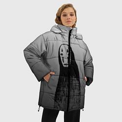 Женская зимняя 3D-куртка с капюшоном с принтом Унесенные призраками, цвет: 3D-черный, артикул: 10155852706071 — фото 2