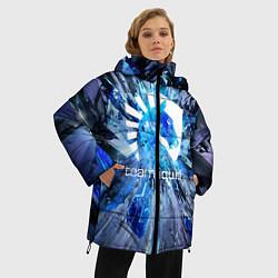 Женская зимняя 3D-куртка с капюшоном с принтом Team Liquid: Splinters, цвет: 3D-черный, артикул: 10156122106071 — фото 2