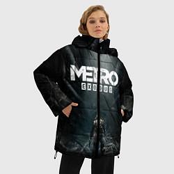 Женская зимняя 3D-куртка с капюшоном с принтом Metro Exodus, цвет: 3D-черный, артикул: 10160290306071 — фото 2