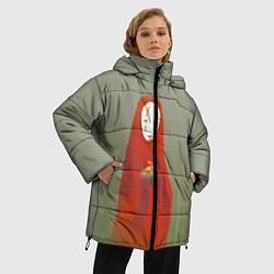 Женская зимняя 3D-куртка с капюшоном с принтом Унесенные призраками, цвет: 3D-черный, артикул: 10161273706071 — фото 2