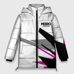 Женская зимняя 3D-куртка с капюшоном с принтом Metro Exodus: White Style, цвет: 3D-черный, артикул: 10161590106071 — фото 1