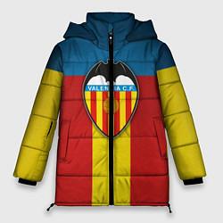 Женская зимняя 3D-куртка с капюшоном с принтом Valencia C.F., цвет: 3D-черный, артикул: 10162062106071 — фото 1