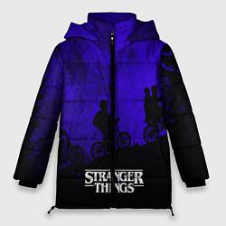 Женская зимняя 3D-куртка с капюшоном с принтом Stranger Things: Moon Biker, цвет: 3D-черный, артикул: 10167409706071 — фото 1