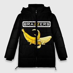 Женская зимняя 3D-куртка с капюшоном с принтом Brazzers: Black Banana, цвет: 3D-черный, артикул: 10167454706071 — фото 1