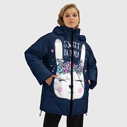 Женская зимняя 3D-куртка с капюшоном с принтом Sweet Bunny, цвет: 3D-черный, артикул: 10171329506071 — фото 2