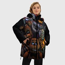 Женская зимняя 3D-куртка с капюшоном с принтом Five Nights at Freddy's, цвет: 3D-черный, артикул: 10171448306071 — фото 2