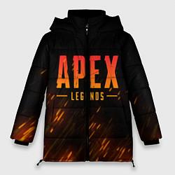 Женская зимняя 3D-куртка с капюшоном с принтом Apex Legends: Battle Royal, цвет: 3D-черный, артикул: 10172158306071 — фото 1