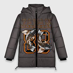 Женская зимняя 3D-куртка с капюшоном с принтом Japan 88, цвет: 3D-черный, артикул: 10172525506071 — фото 1