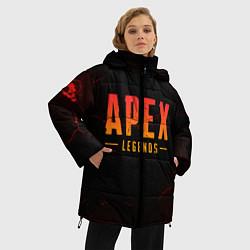 Женская зимняя 3D-куртка с капюшоном с принтом Apex Legends: Dark Game, цвет: 3D-черный, артикул: 10172890906071 — фото 2